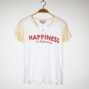 Wildfox • Happiness Is Expensive Raglan White Top